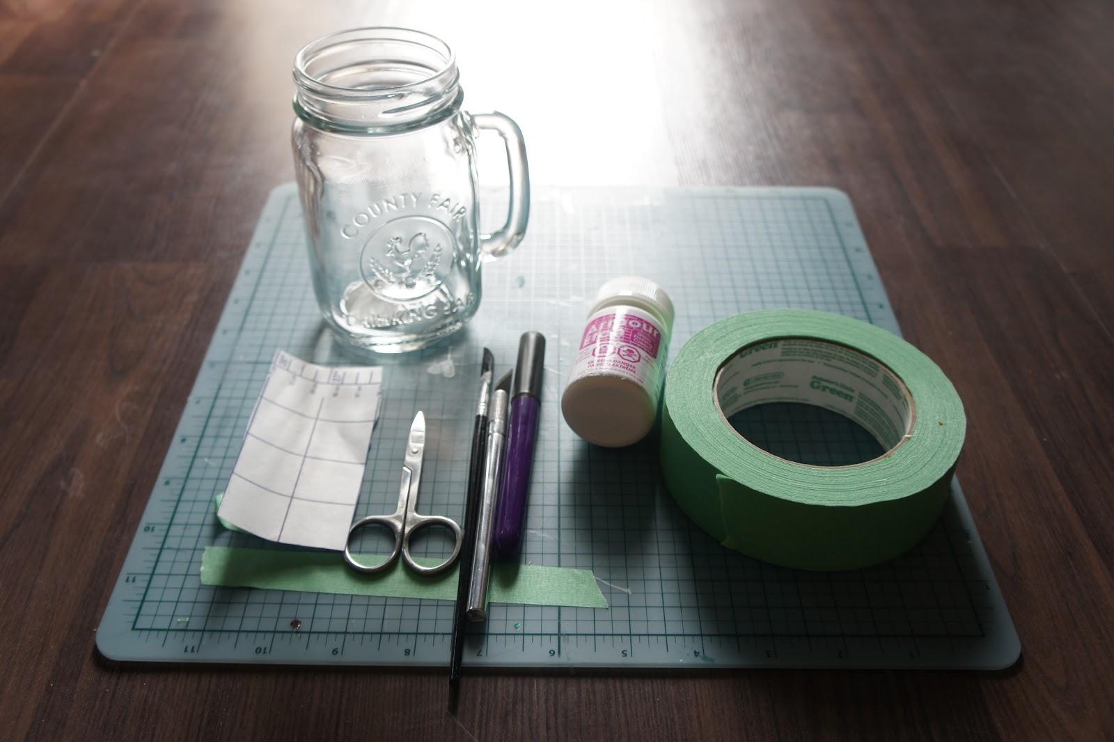 DIY: Etched Mason Jars