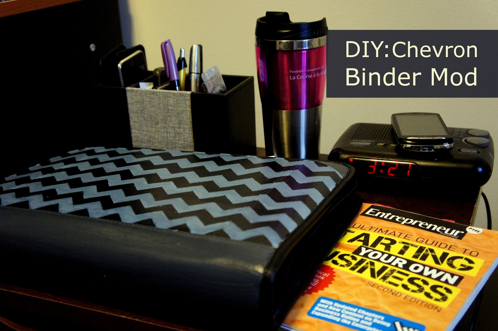 DIY: Chevron Binder