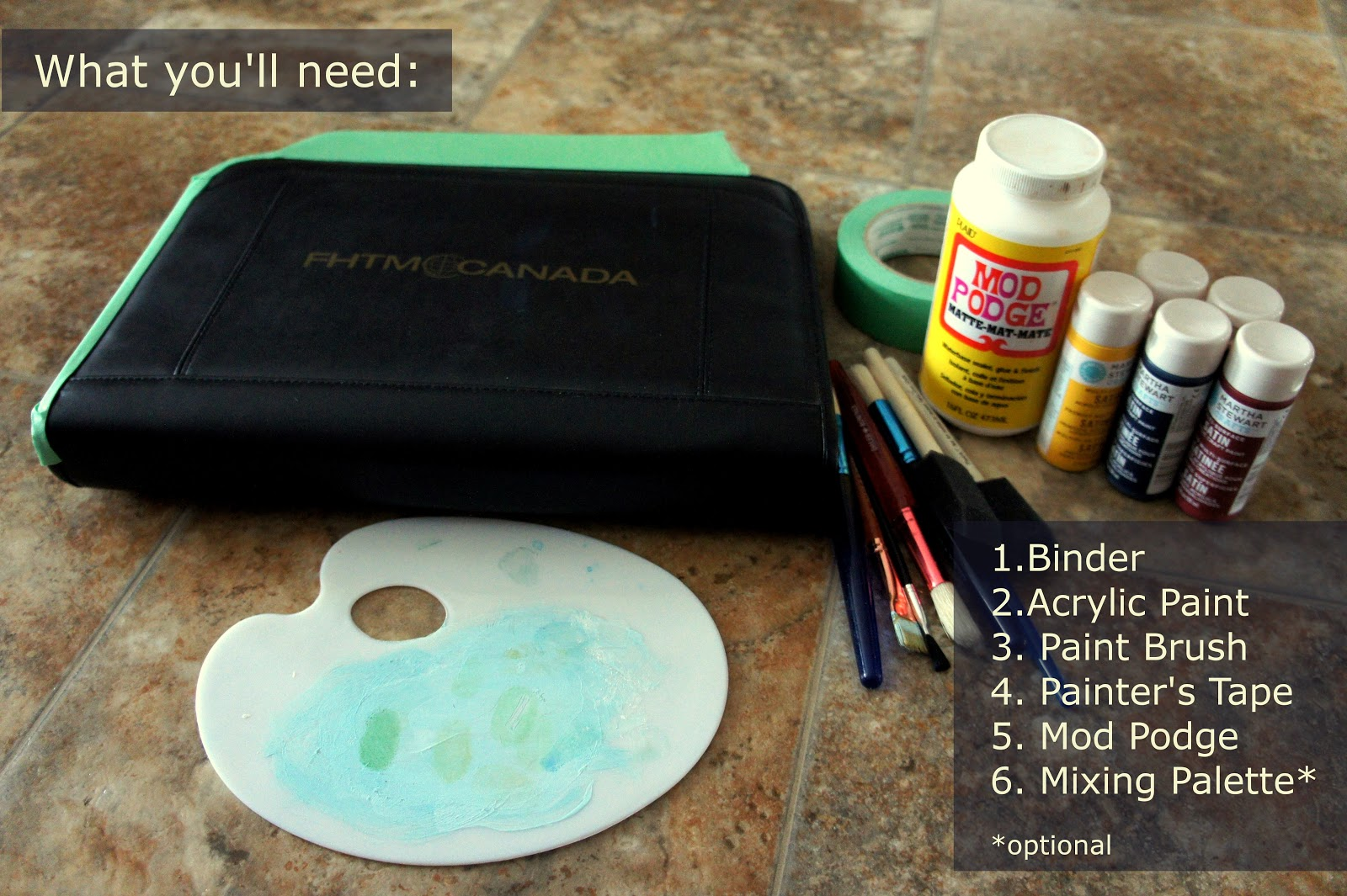DIY: Chevron Binder Materials