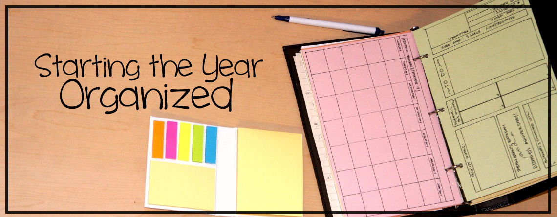Starting the Year Organized