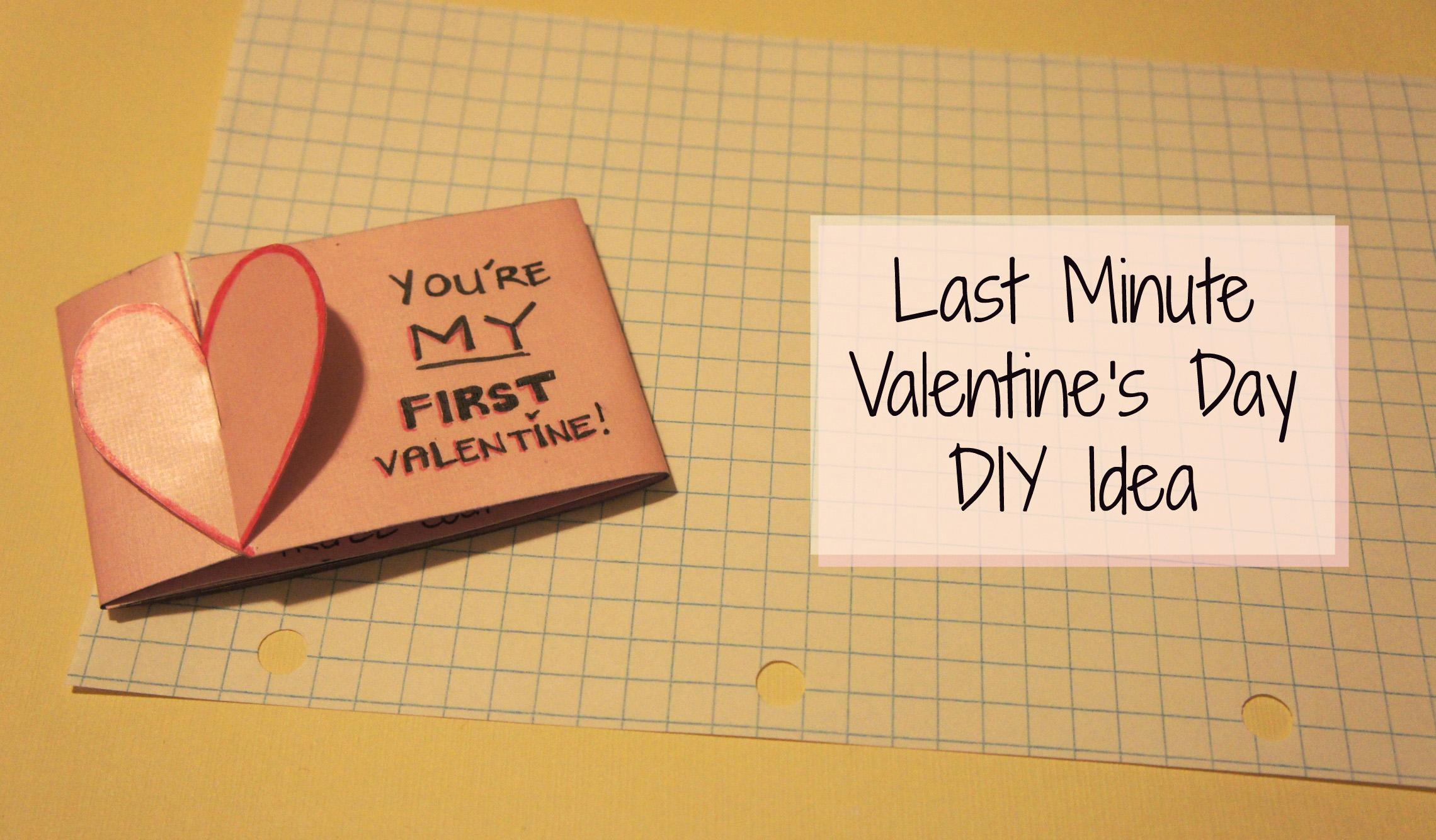 Last Minute Valentine's Day DIY Idea