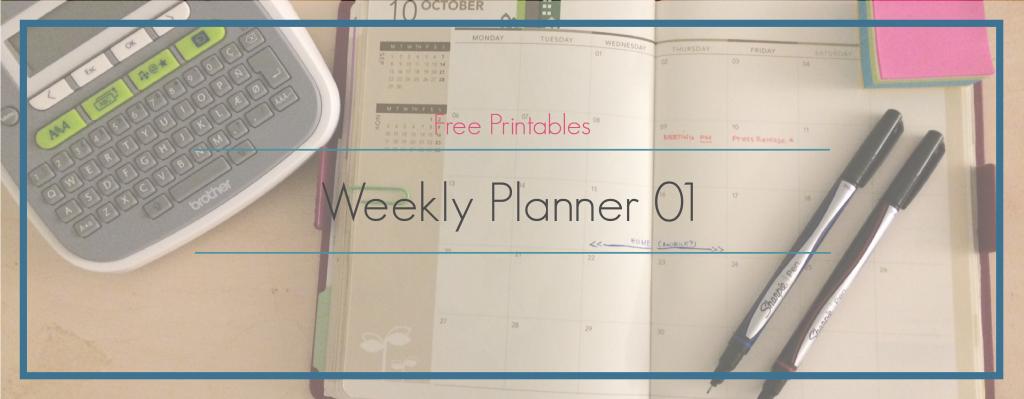 TaftAve || Free Printable: Weekly Planner