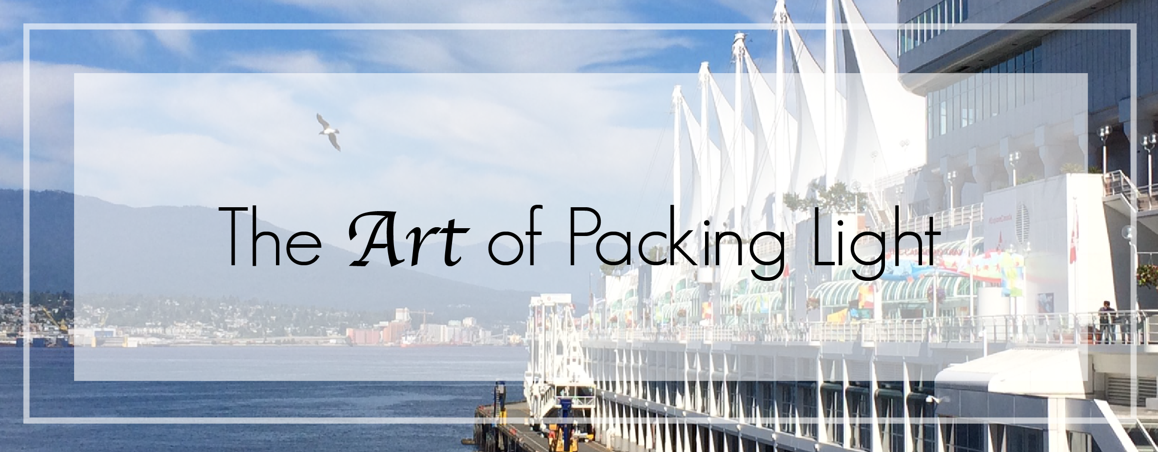 The Art of Packing light 01